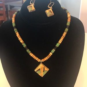Jewelry - Native American inlay necklace